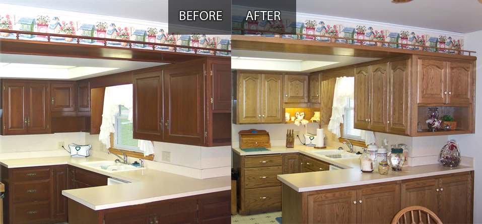 See before and after photos.